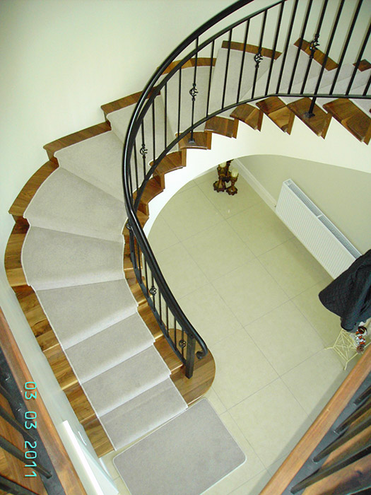 Straight curved stairs belton engineering ireland for Curved staircase